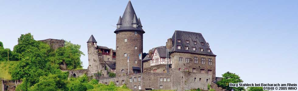 Castle Stahleck near Bacharach on the Rhine River in Germany, picture